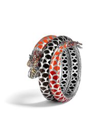 John Hardy | Naga Double Coil Bracelet With Red Sapphire | Lyst