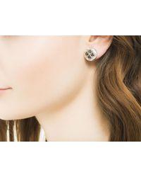 John Hardy - Metallic Naga Button Earring With Black Sapphire - Lyst