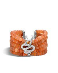 John Hardy - Multicolor Cobra Bead Bracelet With Peach Moonstone - Lyst