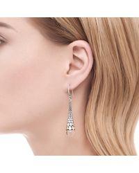 John Hardy - Metallic Dot Drop Earring In Silver And 18k Gold With Gemstone - Lyst