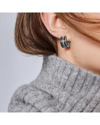 John Hardy - Small Hoop Earring With Black Spinel - Lyst