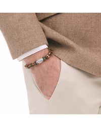John Hardy | Brown Classic Chain Bead Bracelet With Tiger Eye for Men | Lyst