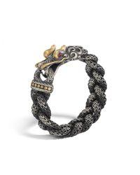 John Hardy | Black Naga Station Bracelet for Men | Lyst