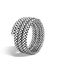 John Hardy Metallic Triple Coil Bracelet