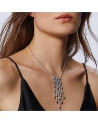 John Hardy - Metallic Naga Necklace In Silver With Diamonds - Lyst