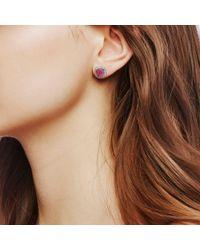 John Hardy - Purple Magic Cut Stud Earring, Indian Ruby And Diamonds - Lyst