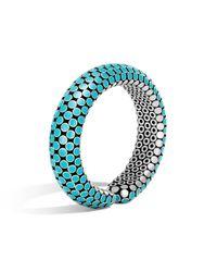 John Hardy | Blue Dot Cuff In Turquoise Enamel | Lyst