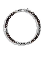 John Hardy | Brown Link Necklace With Ebony Wood | Lyst