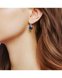 John Hardy Magic Cut Drop Earring, Blue Sapphire And Diamonds