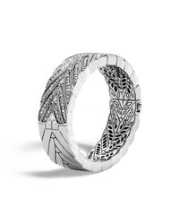 John Hardy | White Modern Chain Hinged Bangle With Diamonds | Lyst