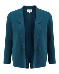 Jigsaw Blue Milano Collar Jacket