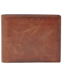 Fossil - Brown Derrick Execufold Wallet for Men - Lyst