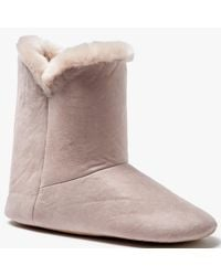 John Lewis - Pink Contemporary Faux Fur Boot Slippers - Lyst