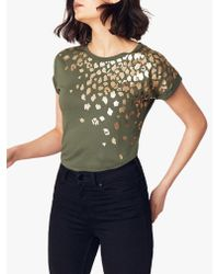Oasis Green Foil Placement Animal T-shirt