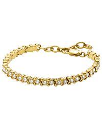 Dyrberg/Kern - Metallic Dryberg/kern Nivalis Swarovski Crystal Tennis Bracelet - Lyst