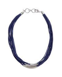 John Lewis Metallic Multi Row Cord Necklace