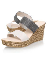 Carvela Kurt Geiger Natural Sybil Platform Sandals