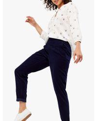 White Stuff Blue Maison Cotton Trousers