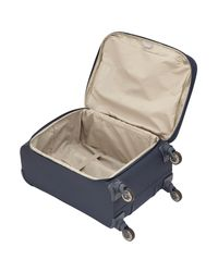 Delsey Blue Tournelles 55cm 4-wheel Cabin Case