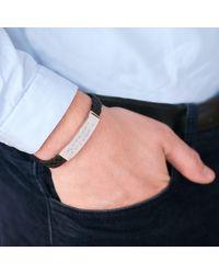 Merci Maman - Black Men's Personalised Leather Braided Bracelet for Men - Lyst