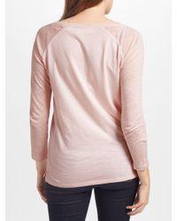 John Lewis Pink Collection Weekend By Slub Raglan Sleeve T-shirt