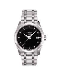 Tissot Metallic T0352101105100 Women's Couturier Date Bracelet Strap Watch