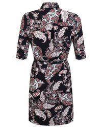 Miss Selfridge Multicolor Paisley Shirt Dress