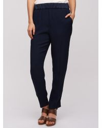 Jigsaw | Blue Relaxed Crepe Trousers | Lyst