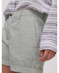 Jigsaw - Blue Stripe Chino Shorts - Lyst