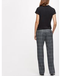 Jigsaw Gray Check Parallel Trousers