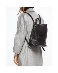 Jigsaw Black Stevie Metallic Zip Top Backpack