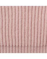 L.K.Bennett Pink Lulu Cashmere-blend Bobble Hat