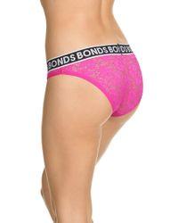 Bonds - Pink Lace Bikini Briefs - Lyst