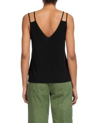 Whistles Black Double Strap Layering Cami