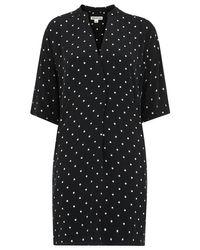Whistles Black Luna Spot Dress