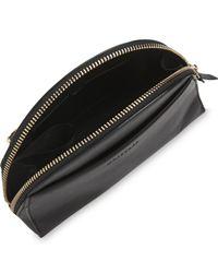 Whistles Black Corso Half Moon Leather Across Body Micro Bag