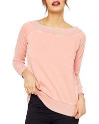 Miss Selfridge Pink Bardot Sweatshirt