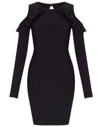 Miss Selfridge Black Cold Shoulder Dress