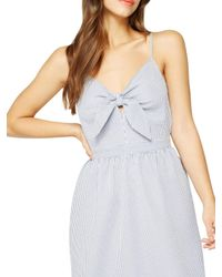 Miss Selfridge Blue Stripe Knot Dress