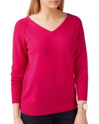 Pure Collection - Pink Toccato Raglan Jumper - Lyst