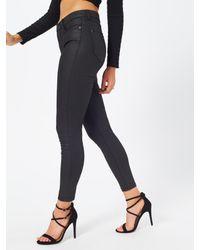 Miss Selfridge Black Sofia Coated Jeans