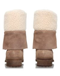 UGG Brown Gradin Lace Up Calf Boots