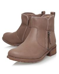 UGG Brown Lavelle Side Zip Ankle Boots