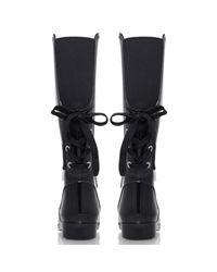 MICHAEL Michael Kors Black Larson Knee Rain Boots