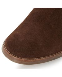 Dune - Brown Pearson Stacked Heeled Ankle Boots - Lyst