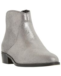 Dune - Metallic Pearcey Long Point Ankle Boots - Lyst