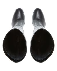 Dune Black Stockar Pull On Knee High Boots