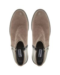 Dune Brown Portlan Ankle Boots