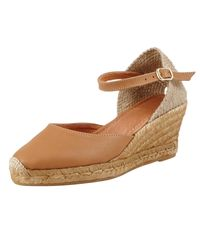 John Lewis | Brown Lloret Wedge Heeled Espadrilles | Lyst