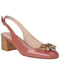 L.K.Bennett Pink Elvira Jewelled Slingback Court Shoes